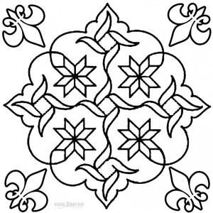 Rangoli Designs Coloring Pages