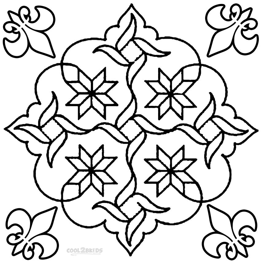 design coloring pages printable - printable rangoli coloring pages for kids cool2bkids