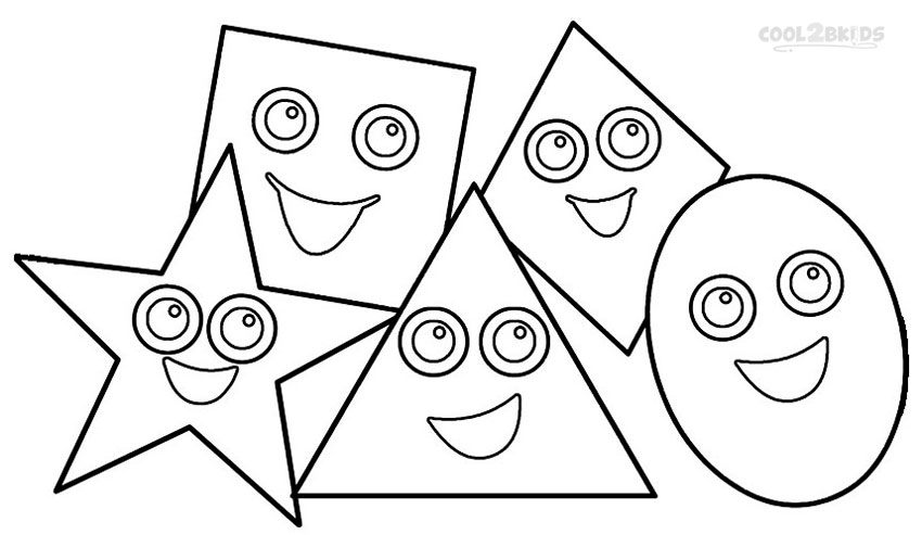 coloring pages and shapes | Printable Shapes Coloring Pages For Kids | Cool2bKids