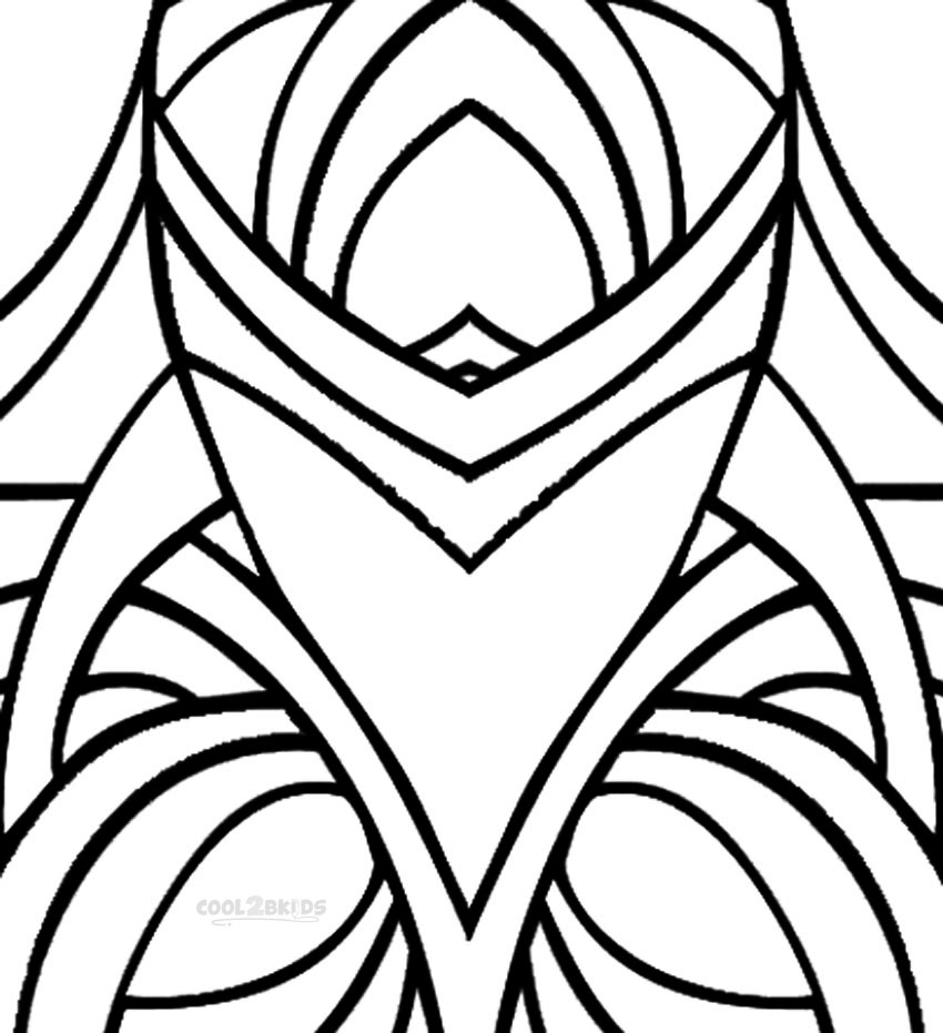 patterned coloring pages to print - photo#6