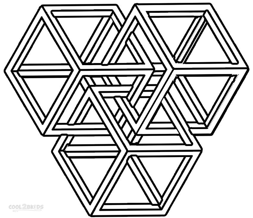 coloring pages geometric shapes - photo#9