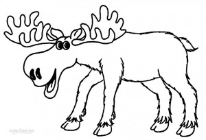 Baby Moose Coloring Pages