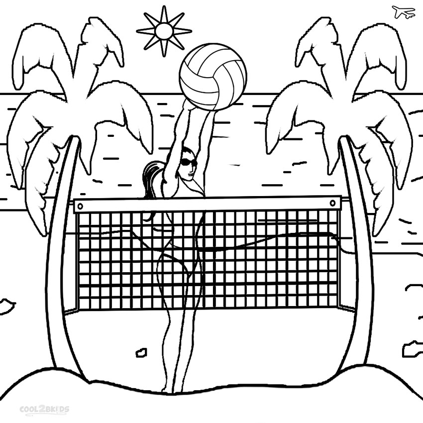 Free Detailed Beach Coloring Pages