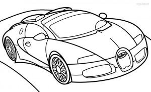 Bugatti Coloring Page