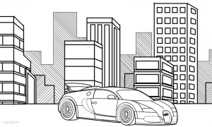 Bugatti Coloring Pages for Kids