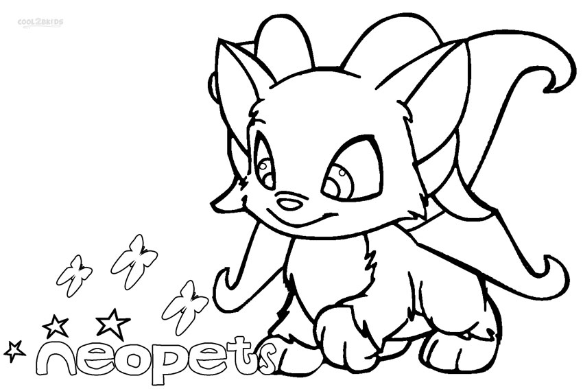 neopets coloring pages Printable Neopets Coloring Pages For Kids | Cool2bKids neopets coloring pages