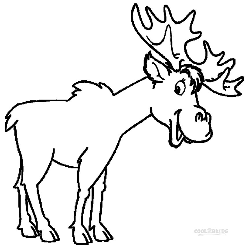 Printable Moose Coloring Pages