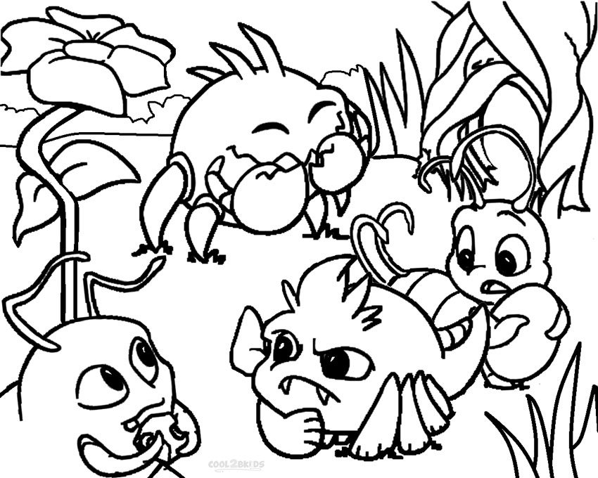 Printable Neopets Coloring Pages