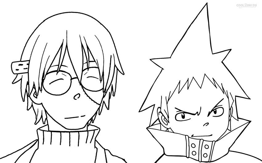 coloring pages of soul eater - photo#11