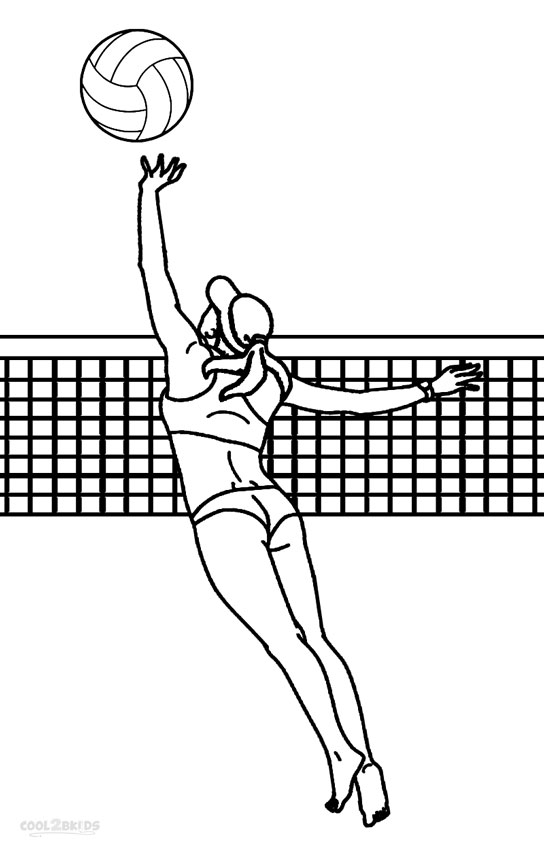 Printable Volleyball Coloring Pages For Kids | Cool2bKids