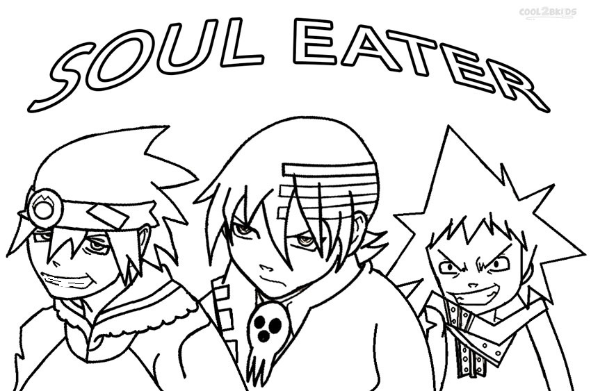 coloring pages of soul eater - photo#2