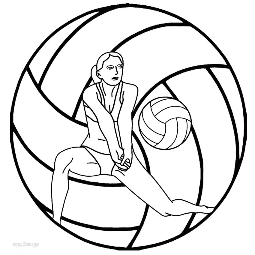 Free volleyball coloring pages