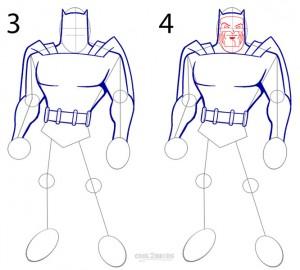 How to Draw Batman Step 2