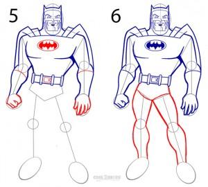 How to Draw Batman Step 3