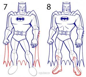 How to Draw Batman Step 4