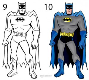 How to Draw Batman Step 5