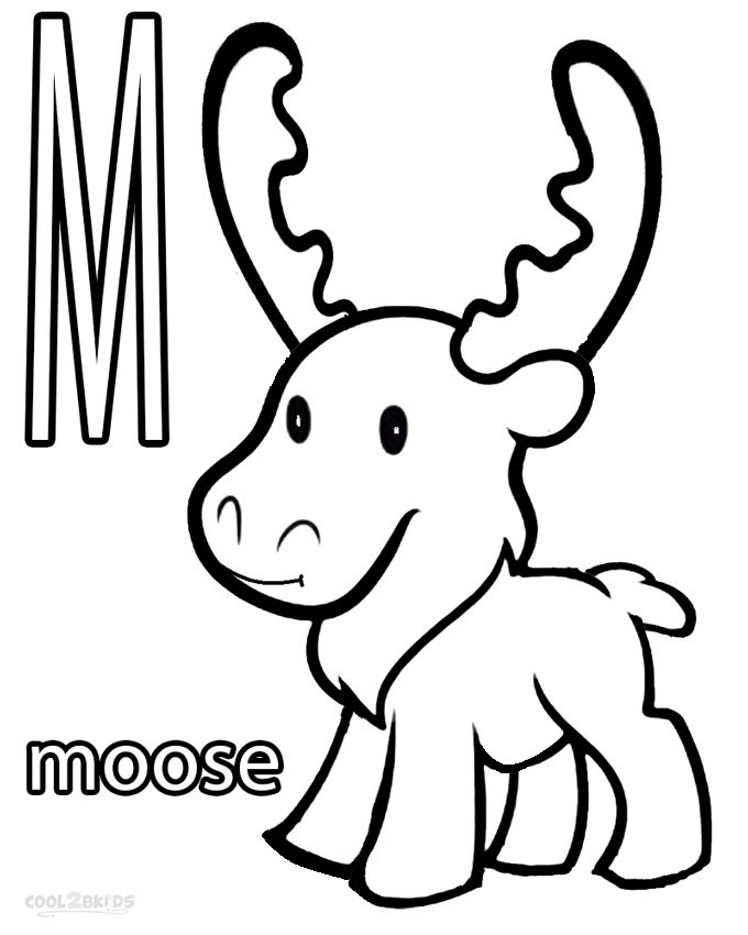 moose coloring page | Too freaking cute! | Graphics/Templates ... | 850x680