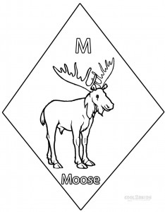 Moose Coloring Pages Printable
