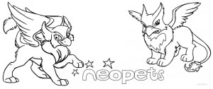 Neopets Coloring Pages