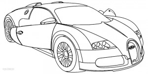 Printable Bugatti Car Coloring Pages