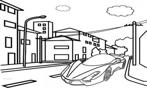 Printable Bugatti Coloring Pages