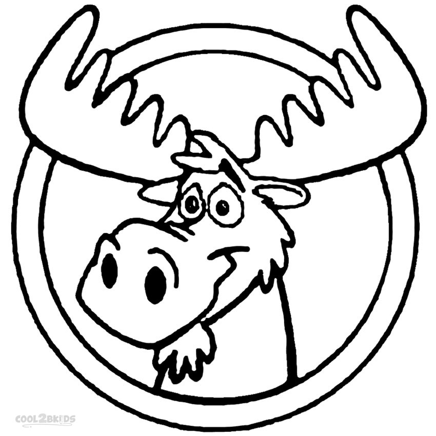Printable Moose Coloring Pages For Kids