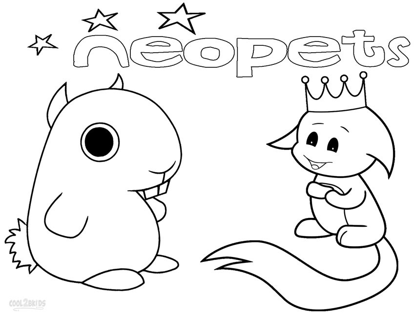 neopets coloring pages printable - photo#28