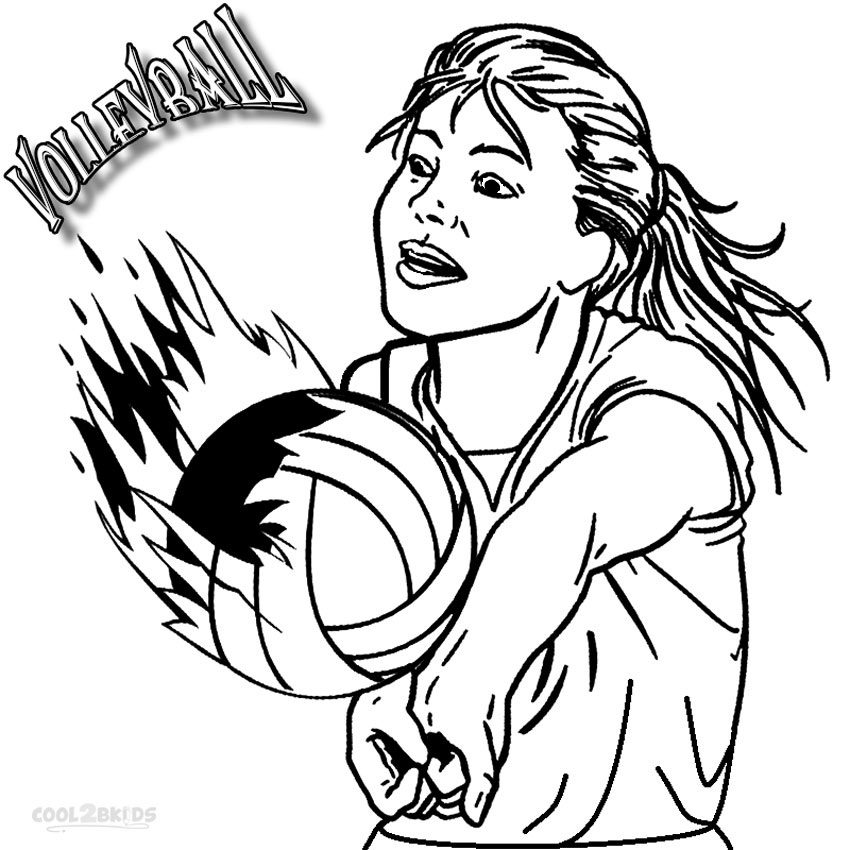 printable volleyball coloring pages - photo#9