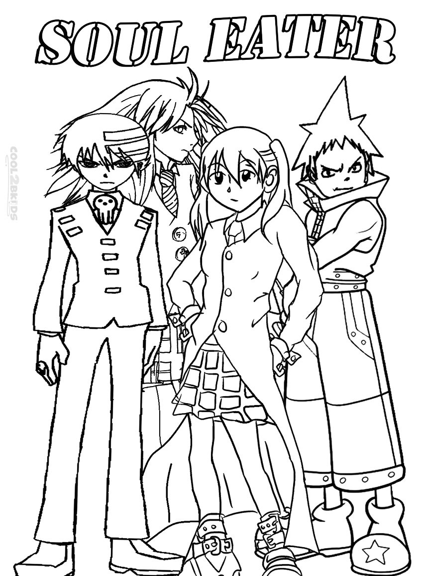 coloring pages of soul eater - photo#3