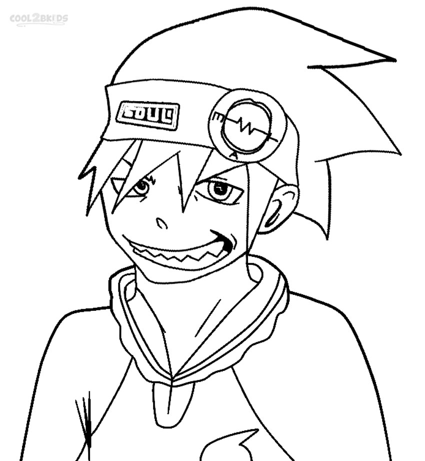 Soul eater printable coloring pages