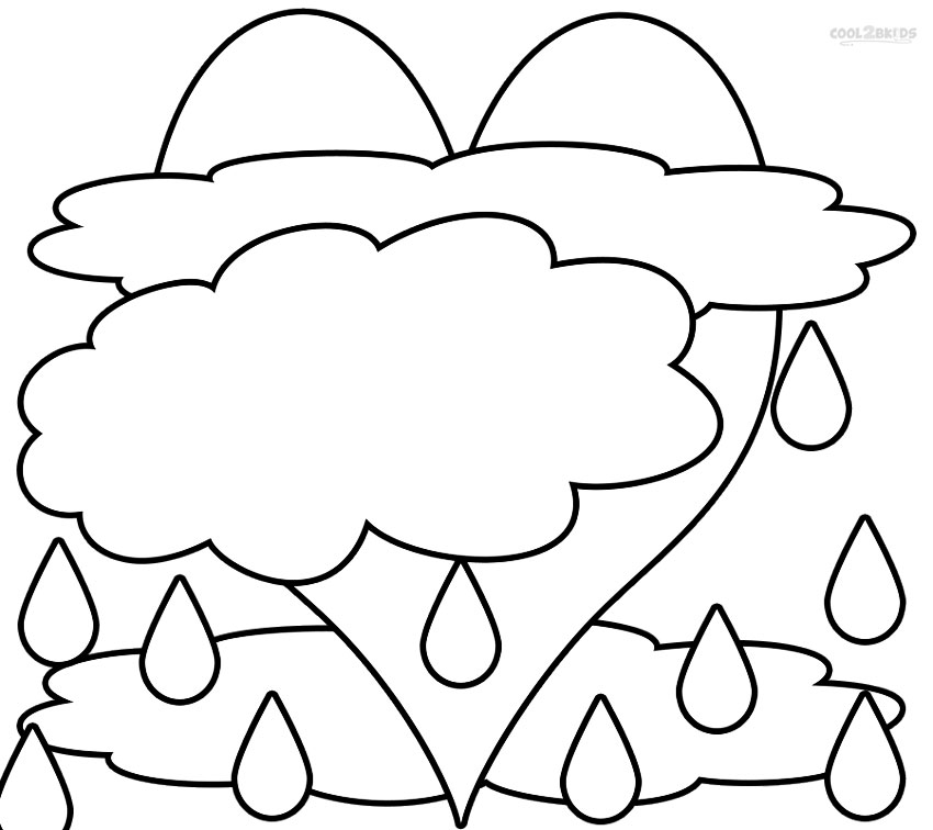 Printable Cloud Coloring Pages For Kids Cool2bkids