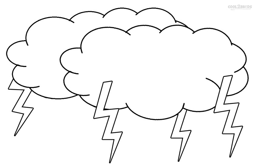 graphic about Printable Cloud named Printable Cloud Coloring Internet pages For Little ones Neat2bKids