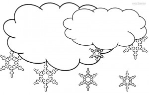 Cloud Coloring Pages for Kids