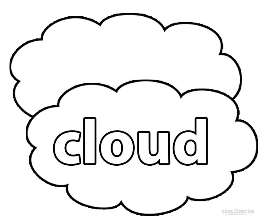cloud shapes coloring pages - photo#16