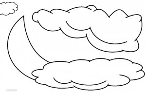 Clouds Coloring Pages