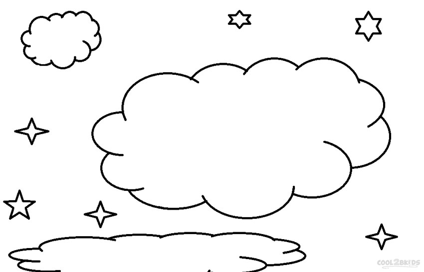 cloud shapes coloring pages - photo#15