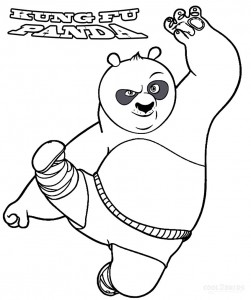 Coloring Pages of Kung Fu Panda