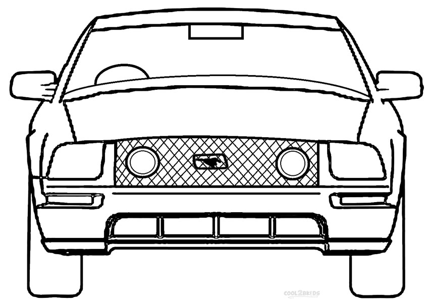Printable Mustang Coloring Pages For Kids Cool2bkids