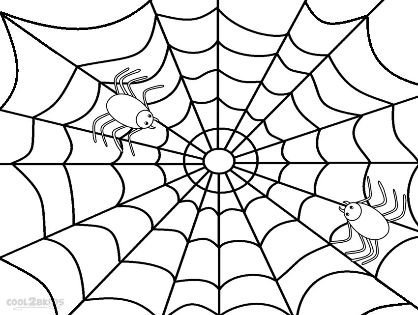Printable Spider Web Coloring Pages For Kids | Cool2bKids