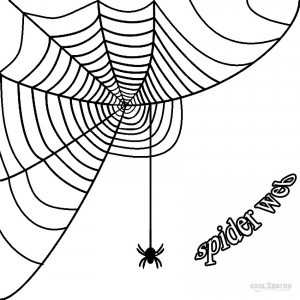 Corner Spider Web Coloring Page