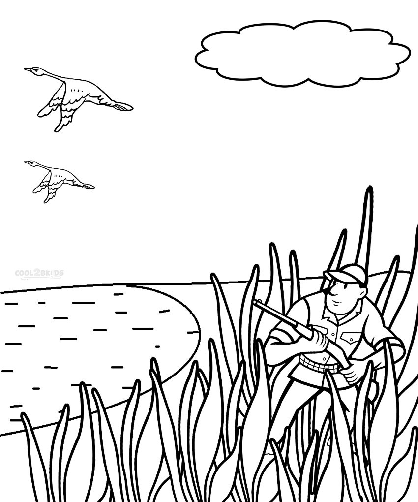 Duck hunting coloring pages coloring page for Mallard coloring page