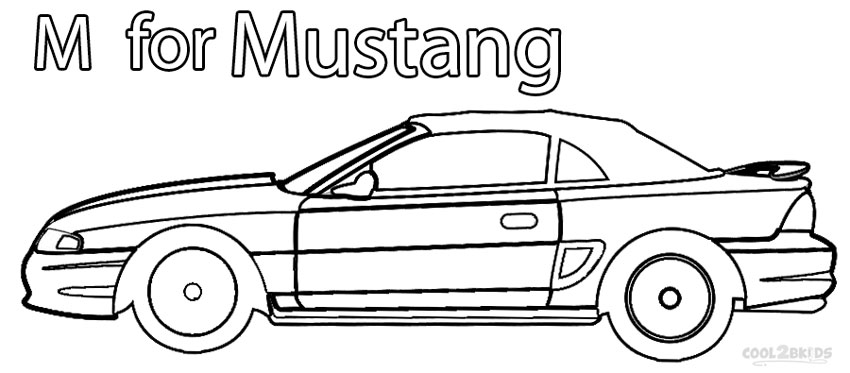 Coloring Pages Model T Ford : Printable mustang coloring pages for kids cool2bkids