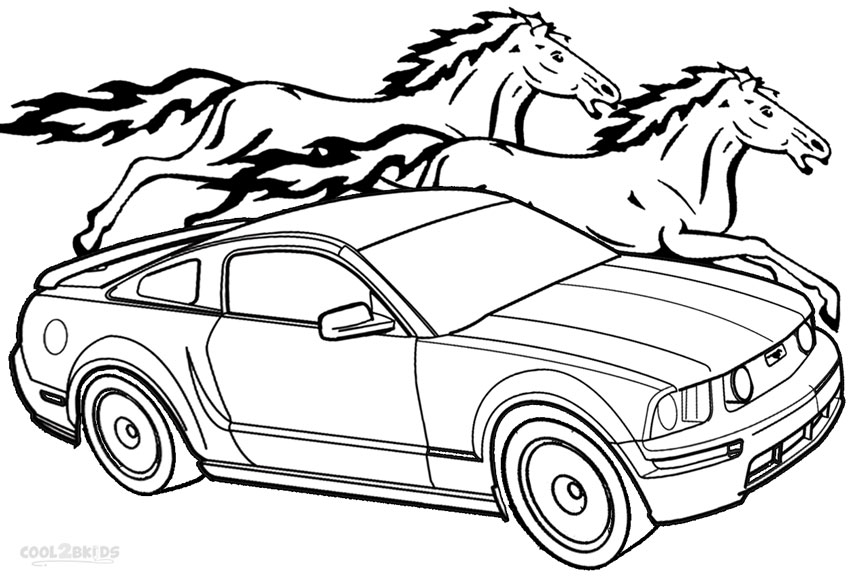 Coloring Pages Mustang Car : Printable mustang coloring pages for kids cool bkids
