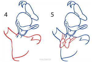 donald duck outline drawing