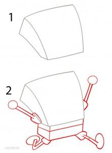 How to Draw Spongebob Step 1
