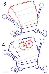 How to Draw Spongebob Step 2