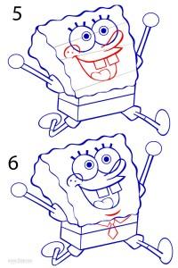 How to Draw Spongebob Step 3