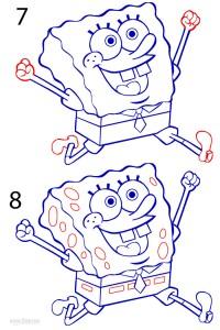How to Draw Spongebob Step 4