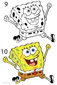 How to Draw Spongebob Step 5