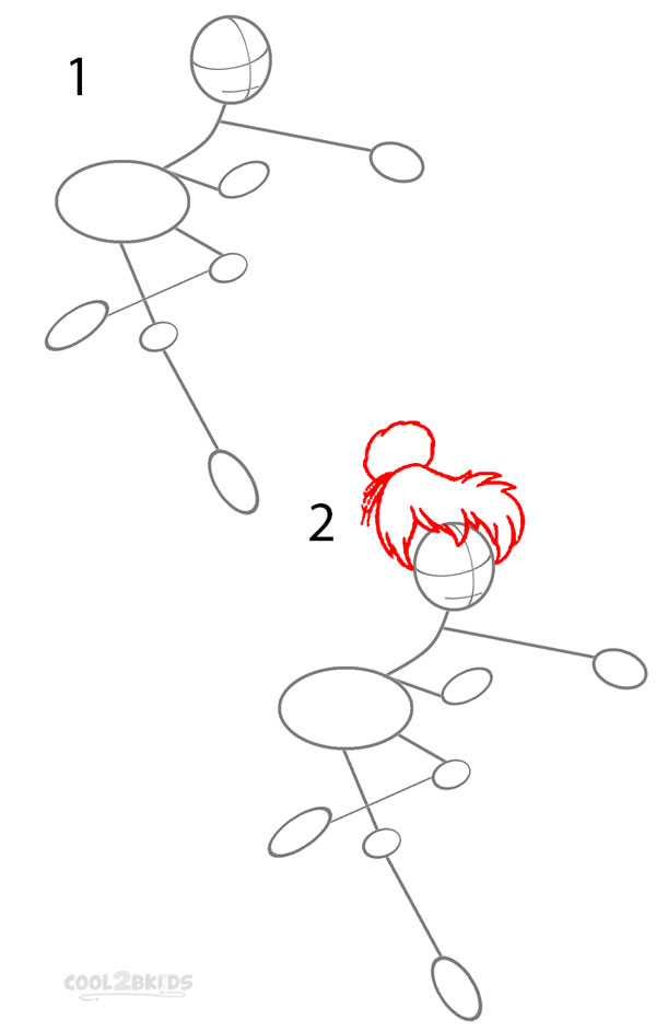 how to draw tinkerbell step 1